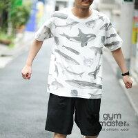 gymmaster(ジムマスター)G933339梨地ハッピーペイントTee(全面プリント)