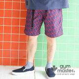 gym master(ジムマスター)公式ハッピーペイントポリショーツ|メンズ|レディース|カジュアル|ブランド|短パン|半ズボン|アウトドア|総柄|おしゃれ |G233695