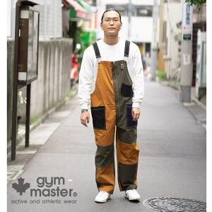 gymmaster(ジムマスター)公式ストレッチピケオーバーオールストレッチ|ピケ|オーバーオール|メンズ|レディース|コットン|オールインワン|サロペット|ワーク|パンツ|秋冬|大きいサイズ|クレージー|配色|海外発送|G157652