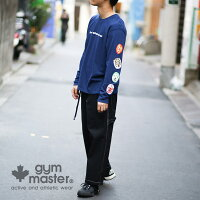 gymmaster(ジムマスター)公式Q&AロンTee|ジムマスター|tシャツ|覆面|プロレス|おじさん|レスラー|長袖|メンズ|レディース|袖プリント|ロンT|G133680