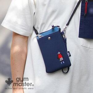 gym master(ジムマスター) 公式ハッピー刺繍スマホポーチスマホケース|メンズ|レディース|防水|撥水|斜めがけ|携帯入れ|お財布|アウトドア|メンズ|レディース|スマホバッグ|おしゃれ|海外発送|ショルダー|ポシェット|ウォレット  G421608