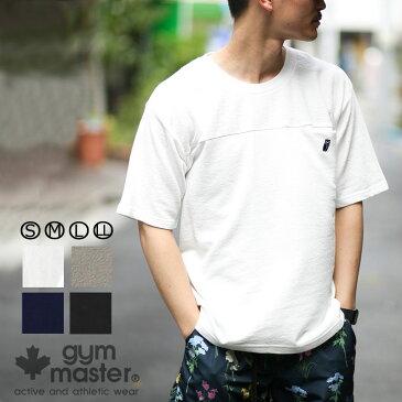 gym master(ジムマスター) g933322 ブロックインレー フクロウ 刺繍Tee tシャツ 半袖 メンズ レディース ユニセックス