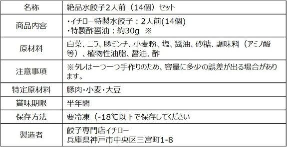 リピーター続出のイチロー特製水餃子2人前+特製酢醤油30g付きがなんと!980円!【RCP】