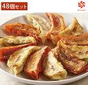 【送料無料】餃天 の 紅白 餃子 48個セット(情熱の赤餃子24個・至福の白餃子