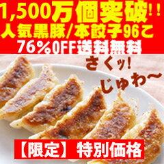 ◆超限定72%OFF◆黒豚&本餃子96個約2kg!【送料無料】