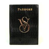 VICTORIA'S SECRET ヴィクトリアシークレット パスポートケース カードケース パスケース ブラック