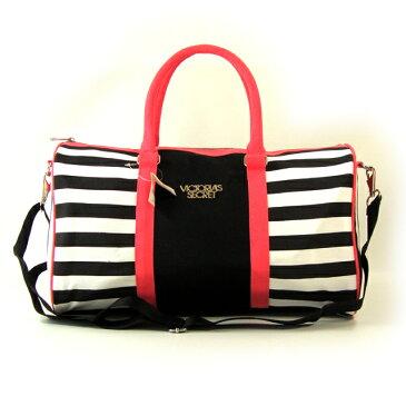 【送料無料】VICTORIA'S SECRET ヴィクトリアシークレット ビクシー バッグ ボストンバッグ 2way ショルダーバッグ 旅行バッグ ピンク ボーダー
