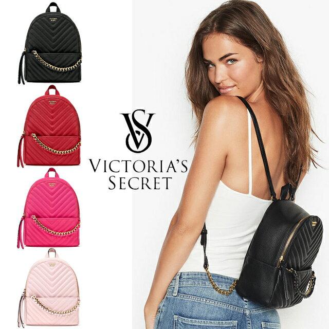 ヴィクトリアシークレット リュック VICTORIA'S SECRET ビクトリア Vキルト スモールバックパック ブラック レッド ピンク ライトピンク