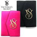 【送料無料】VICTORIA'SSECRETヴィクトリアシークレットパスポートケースカードケースパスケースブラックピンク本革