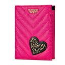 【送料無料】VICTORIA'S SECRET Embellished V-Quilt Passport Cover ヴィクトリアシークレット ビクシー パスポートケース Vキルト仕様 ピンク