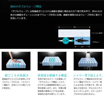 京都西川 ローズラジカル ダブルウェーブ wwave ベーシック ハードタイプ シングル 敷き布団 100×200cm 三つ折り 敷きふとん 洗えます 11567341