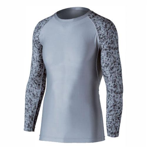 [送料無料]冷感消臭長袖クルーネックシャツJW-623灰迷彩[5枚組] 節電 クールビズ エコ UVカット インナー