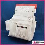 ■プロスター 仮枠釘袋 墨壷差付き KE-802W 曲尺収納 ホワイト よれない ヨレ防止 白