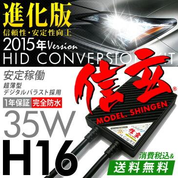 プリウス30系後期フォグに最薄 HID H16 35W【送料無料】HIDキットモデル信玄