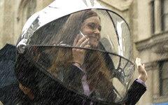 【送料無料】手を使わないドーム型の傘「アンビリバボー」SPで紹介Nubrella ニューブレラ 傘 【...