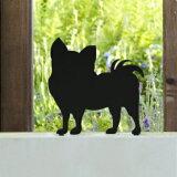 ウェルカムアニマル いぬのエクステリア  ANIMAL-04「チワワ」 ステンレス ひょうさつ【GHO表札】【楽ギフ_包装】【楽天人気表札】【動物】【犬】【イヌ】【ペット】