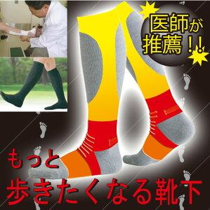 【着圧 靴下】[もっと歩きたくなる靴下] 足の運びが驚くほど軽い靴下♪【靴下】【ソックス】【...
