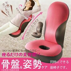 【骨盤矯正座椅子】[勝野式美姿勢習慣]姿勢&骨盤ケアが出来る座椅子です♪【座椅子/座いす/座イス/ザイス/ざいす/リラックスチェアー】【送料無料/あす楽/プレゼント/ギフト】