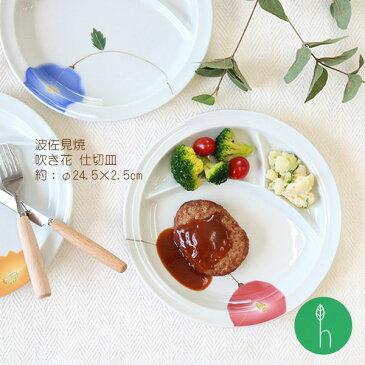 吹き花 仕切り皿 [波佐見焼][HASAMI][長崎][和食器][器][和モダン][日本製][食器][おすすめ][プレゼント][食卓]【ラッキーシール対応】