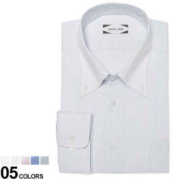 10%OFFクーポンあり■大きいサイズ メンズ Nature Code (ネイチャーコード) 超形態安定 ストレッチ 吸水速乾 ボタンダウン 長袖 ワイシャツ RELAX BODY ワイシャツ Yシャツ シャツ オールシーズン ストレッチ 伸縮 ゆったり EANA15B