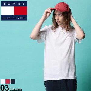 トミーヒルフィガー Tシャツ TOMMY HILFIGER トミー ストレッチ 胸ロゴ クルーネック 半袖 アンダー Tシャツメンズ 男性 トップス シャツ Tシャツ クルー 半袖 インナー ロゴ 肌着 下着 伸縮 シンプル 09T3731