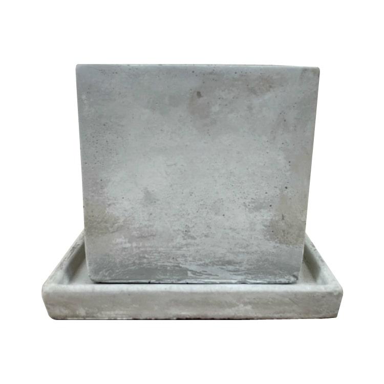 植木鉢 おしゃれ コンクリートポット CC003-110 3.5号(11cm) / 陶器鉢 四角 セメント