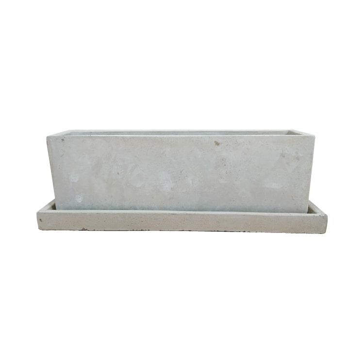 植木鉢 おしゃれ コンクリートポット CC004-270 8cm x 27cm / 陶器鉢 長方形 セメント