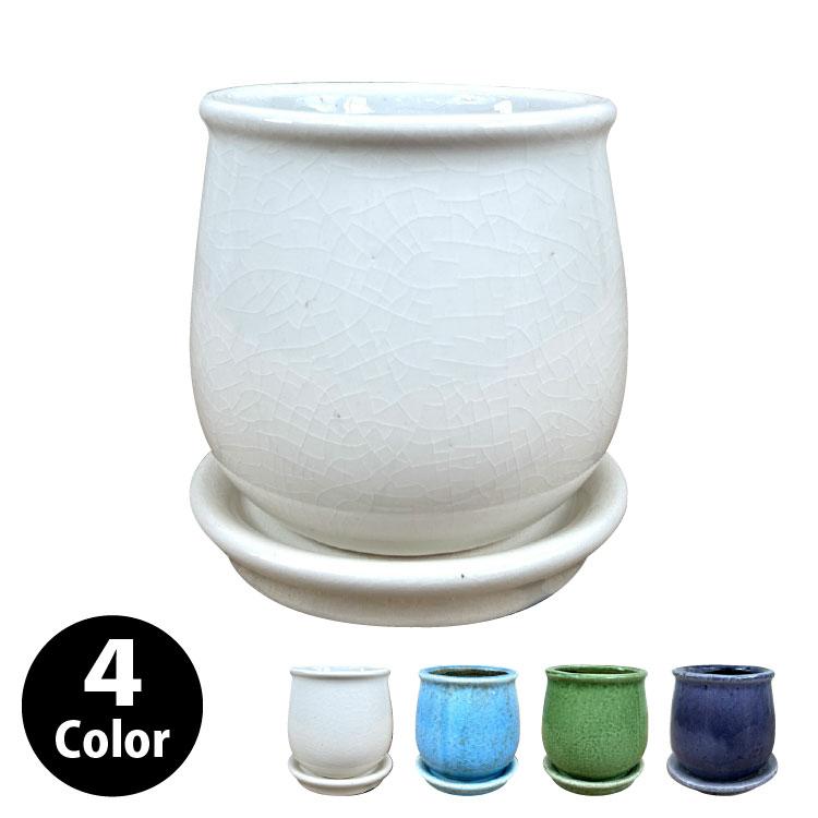 植木鉢 おしゃれ シンプルポット MM003-110 4号(11cm) / 陶器鉢 アンティーク シャビー