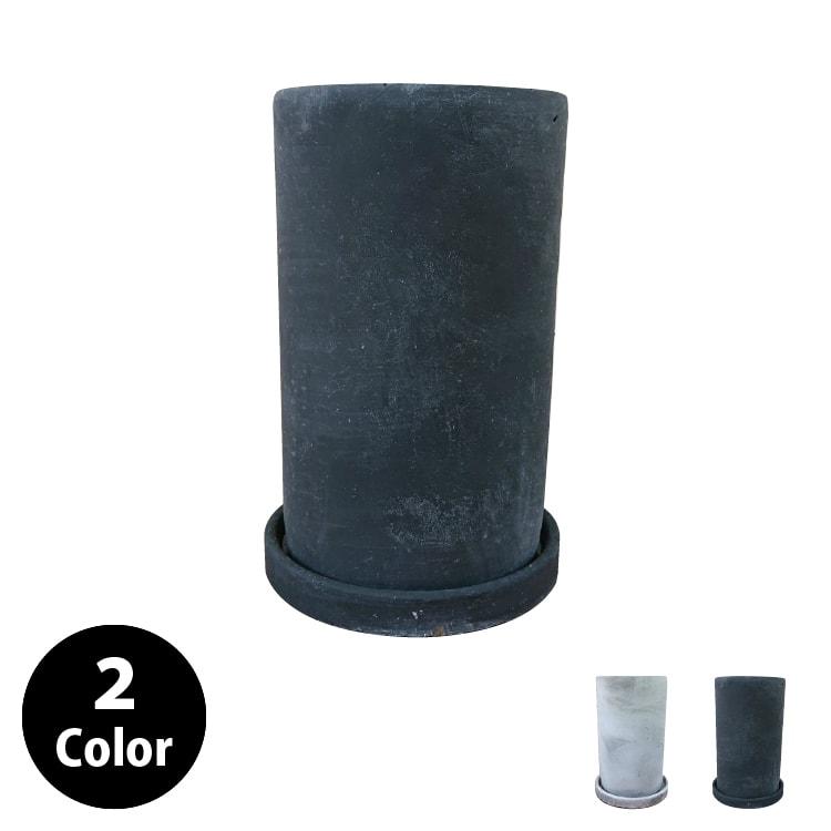 植木鉢 おしゃれ セメントポット MM015-120 4号(12cm) / 陶器鉢 白 黒 コンクリート