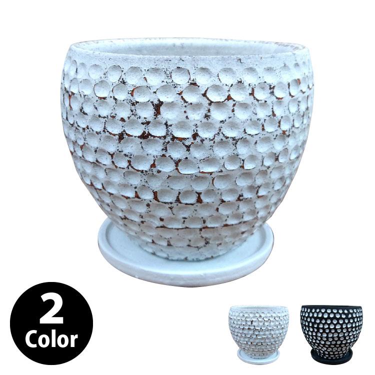 植木鉢 おしゃれ シャビーポット YS1900-205 7号(20.5cm) / 陶器鉢 アンティーク 鉢カバー