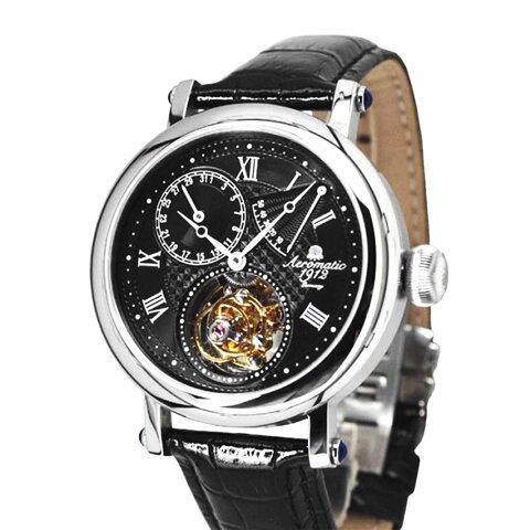 Aeromatic1912 エアロマティック エアロマチック トゥールビヨン Tourbillon 腕時計 メンズ パイロットウォッチ [A1278] 並行輸入品 メーカー保証24ヵ月 収納ケース付き