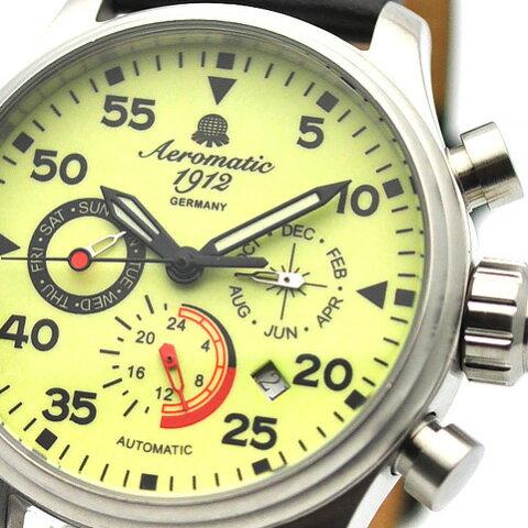 Aeromatic 1912 エアロマティック 1912 エアロマチック 1912 自動巻き 腕時計 メンズ パイロットウォッチ [A1419] 並行輸入品 メーカー保証24ヶ月&純正ケース付き