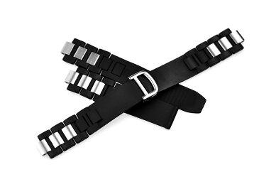 腕時計ベルト 腕時計バンド 替えストラップ 社外品 汎用ラバーベルト 取付幅20mm 適用: Cartier カルティエ [クロノスカフ] (尾錠)Dバックル付き [ Eight - ERB022 ]