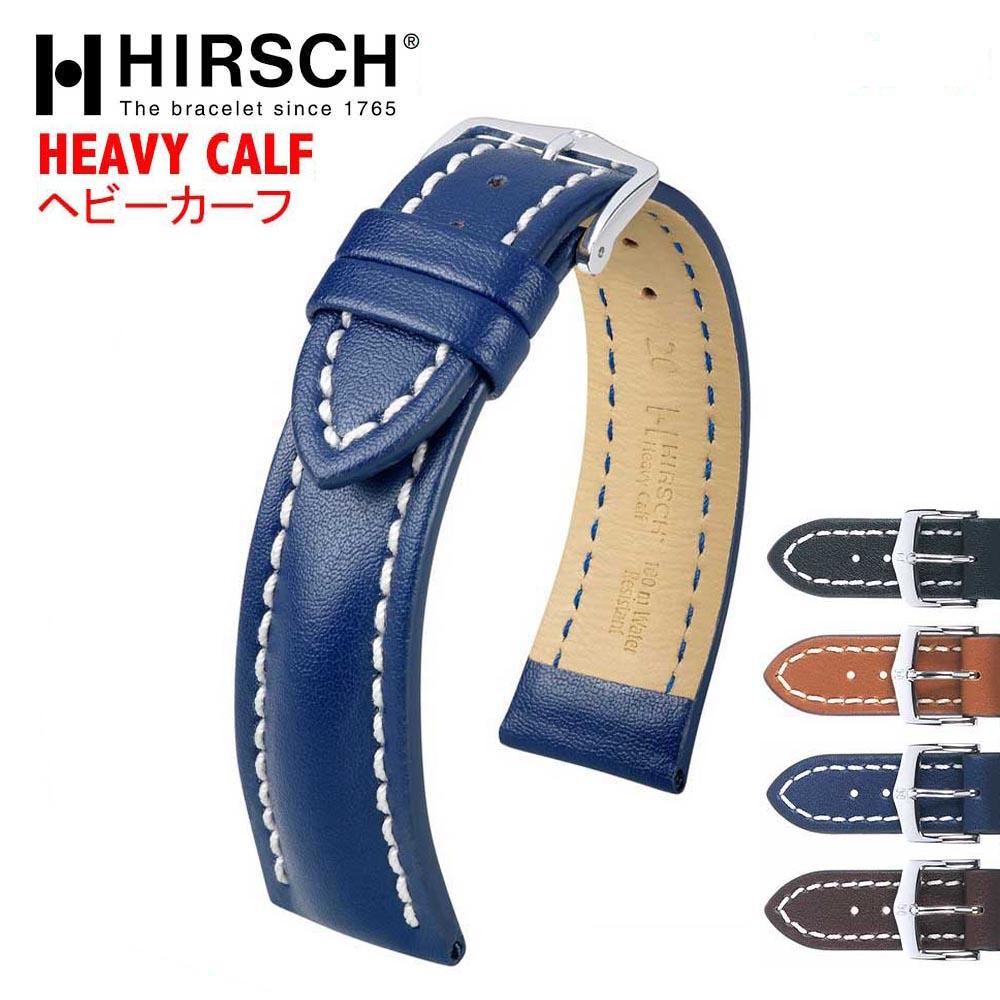 腕時計用アクセサリー, 腕時計用ベルト・バンド HIRSCH HEAVY CALF(4 18mm20mm22mm24mm26mm