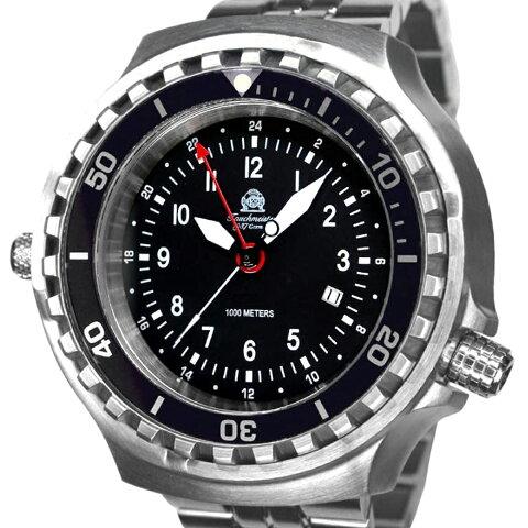 Tauchmeister 1937 トーチマイスター1937 電池式クォーツ 腕時計 [T0311M] 並行輸入品 デイト GMT(ワールドタイム) ダイバーズ ヘリウムエスケープバルブ