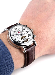 IngersollインガーソルクラシックシリーズCrookerドイツデザインデュアルタイムGMTカレンダー自動巻きIN7305WH