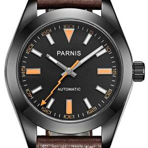 【NEW】PARNIS パーニス 自動巻 腕時計 メンズ [PA2107-S3AL-BKDB] 並行輸入品 メーカー保証