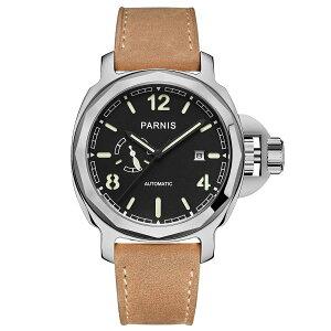【NEW】PARNISパーニス自動巻き腕時計[PA6027-S3AL-SVBK]並行輸入品純正ケースメーカー保証12ヶ月