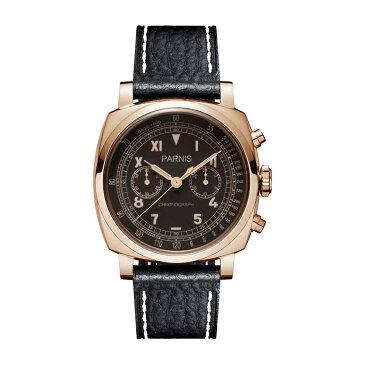 【NEW】PARNIS パーニス クォーツ 腕時計 [PA6046-A-S5EL-BKrgBKw] 並行輸入品 純正ケース メーカー保証12ヶ月