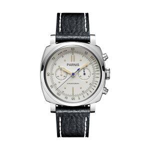 【NEW】PARNISパーニスクォーツ腕時計[PA6046-B-S5EL-WHsvBKw]並行輸入品純正ケースメーカー保証12ヶ月