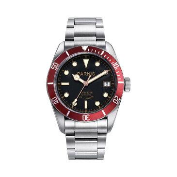 【NEW】PARNIS パーニス 自動巻き 腕時計 [PA6050-S3AS-RD] 並行輸入品 純正ケース メーカー保証12ヶ月