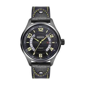 【NEW】PARNISパーニス自動巻き腕時計[PA6052-S3AL-BKgrBK]並行輸入品純正ケースメーカー保証12ヶ月