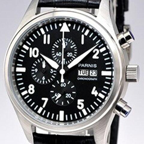 PARNIS パーニス クォーツ 腕時計 メンズ [PN-043S6EN] 並行輸入品 当店保証24ヵ月
