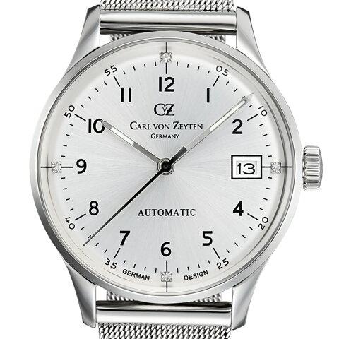 【残り1点】Carl von Zeyten カール・フォン・ツォイテン 自動巻き(手巻き機能あり) 腕時計 [CvZ0016SLMB] 正規品 デイト