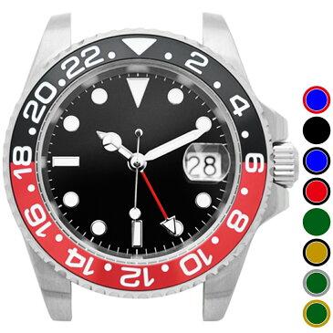 NOLOGO ノーロゴ 電池式クォーツ 腕時計 ムーブメント [NL000M] 本体のみ/ベルト無し デイト GMT(ワールドタイム) 逆回転防止ベゼル