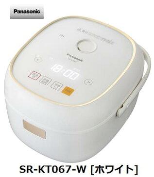 パナソニック SR-KT067-W [ホワイト] Panasonic IHジャー 炊飯器 家電 単体 新品