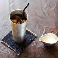 ビールを更に旨くする富山高岡錫職人の技能作 錫製ビアカップ