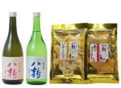 【送料無料企画】八鶴純米酒おつまみセット720ml2本いかくん1袋炙りエイヒレ1袋