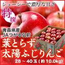 葉とらず太陽ふじりんご  青森県産 JAつがる弘前 糖度13...