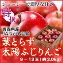 葉とらず太陽ふじりんご  青森県産 JAつがる弘前   糖度...